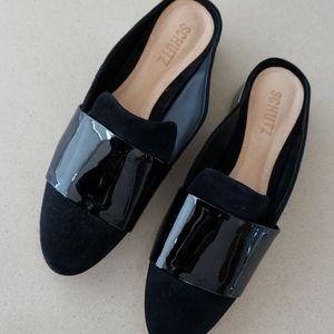 Schutz brand new slips w gorgeous heel detail